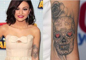 Skull hand tattoo