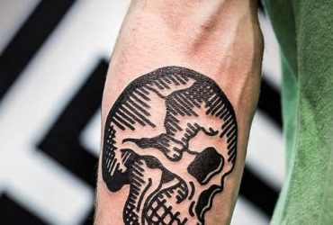 traditional-skull-tattoo-forearm