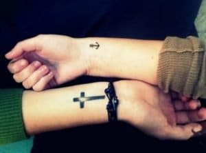 cross tattoos on wrist