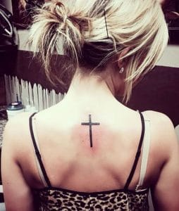 small cross tattoos