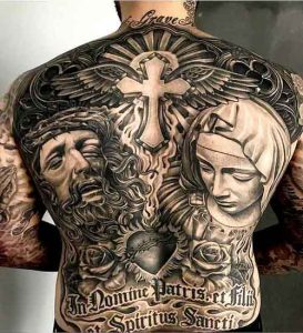 f48c4db1451a0 200+ Sacred Heart Tattoo Designs for Men and Women
