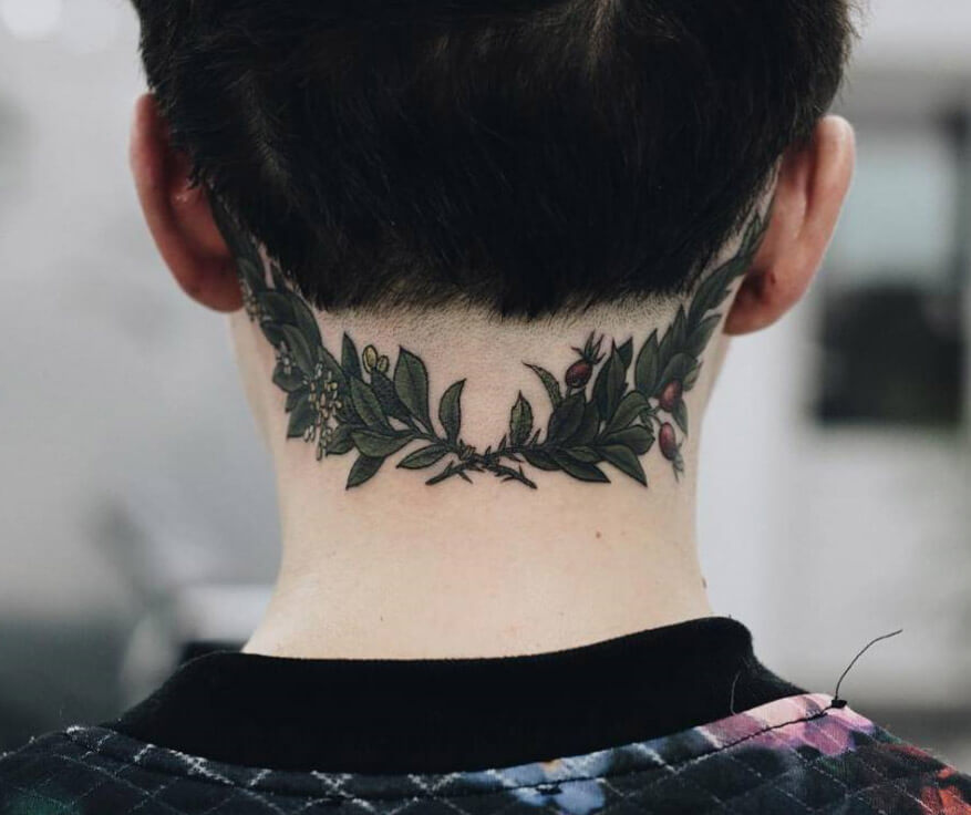 201  Back Of Neck Tattoos For Men And Women