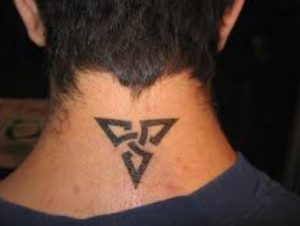 back of neck tattoos