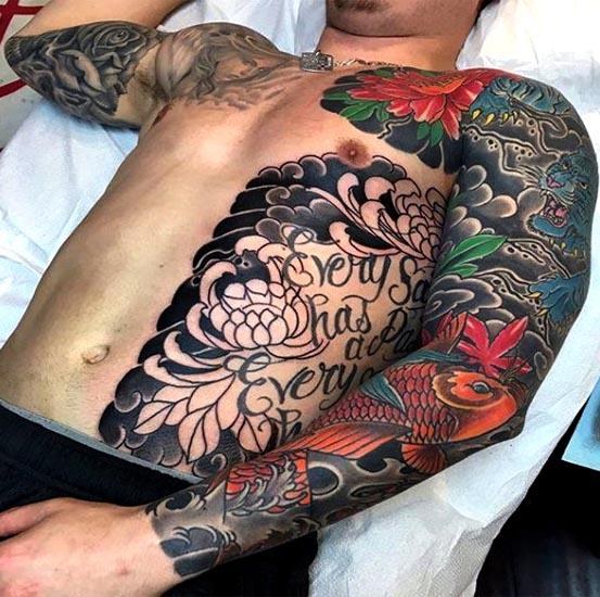 Anese Sleeve Tattoo Ideas