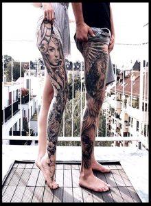 Top 150 Best Leg Sleeve Tattoo Designs For Women And Man