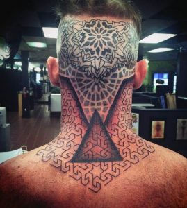 28c6c2471 201+ Back of Neck Tattoos for Men and Women - Designs and Ideas