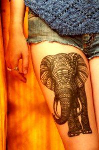 leg sleeve tattoo