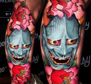 hannya mask tattoo