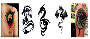 yin yang dragon tattoo