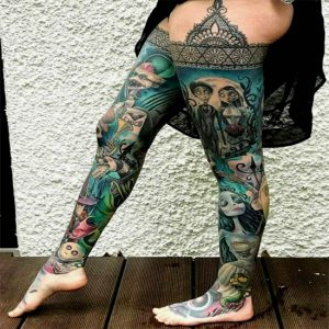 165+ Best Leg Sleeve Tattoo Designs for Women and Man (2021)