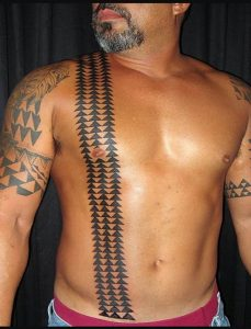 Traditional Hawaiian tattoo
