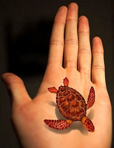 Hawaiian turtle tattoo