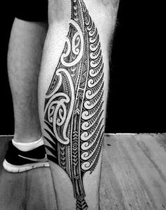 best Hawaiian tattoos leg