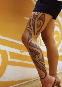 nice Hawaiian tattoos leg
