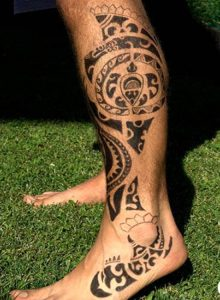 common Hawaiian tattoos leg