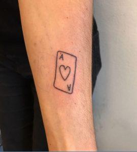 Ace of hearts tattoo